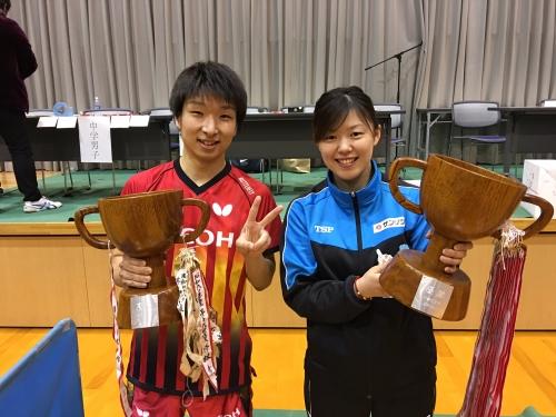 阿部恵さん 中津川オープンで2冠!