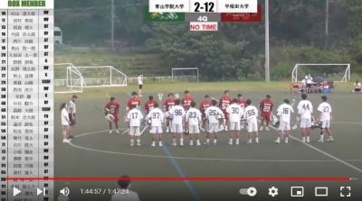 Bチーム敗戦vs早稲田  21年度秋季リーグ開催